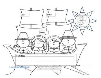 Mayflower (ship) Main Idea and details graphic organizer