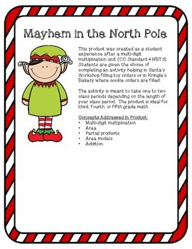 Mayhem in the North Pole: A Multi-Digit Multiplication Project