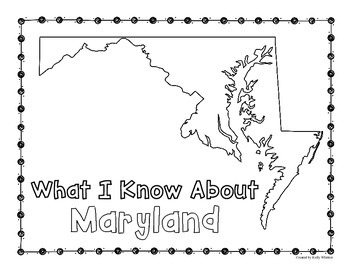 Mayland Graphic Organizers (Perfect for KWL charts and geography!)