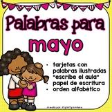 May Vocabulary Words in SPANISH - Mayo