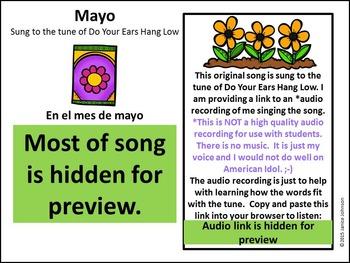 Mayo Spanish May Song {Canción en español}
