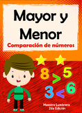 Mayor y Menor: Comparación de números