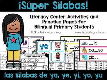Mayores sílabas  – Spanish Phonics Practice for ya, ye, yi