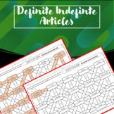 Definite and Indefinite Articles in Spanish - Maze activity - No prep