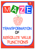 Maze - Absolute Value Functions - Writing an Equation from Graphs