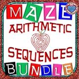 Maze - BUNDLE Arithmetic Sequence