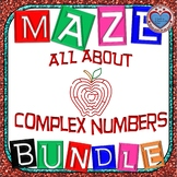 Maze - BUNDLE IMAGINARY NUMBERS (8 MAZES = 98 FUN Questions)