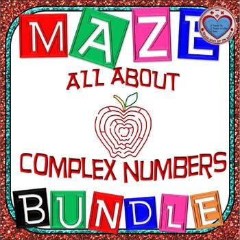 Maze - BUNDLE COMPLEX NUMBERS (8 MAZES = 98 FUN Questions)