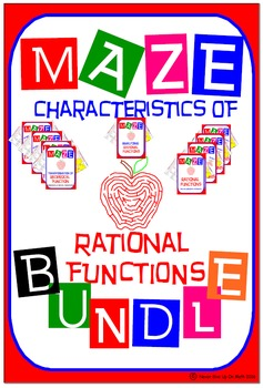 Maze - BUNDLE Characteristics of Rational Functions (9 Mazes = 122 Questions)