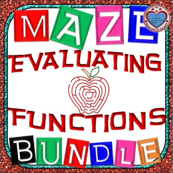 Maze - BUNDLE Evaluating Functions (7 Mazes)