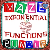 Maze - BUNDLE Exponential Growth and Decay & MORE (14 Mazes + 1 Foldable)