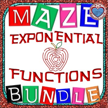 Maze - BUNDLE Exponential Functions (14 Mazes + 1 Foldable)