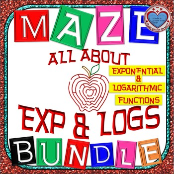 Maze - MEGA BUNDLE(50%+OFF) 31 Activities on Exponential & Logarithmic Functions