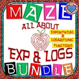 Maze MEGA BUNDLE Exponential Growth and Decay & Logarithmic Functions