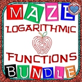 Maze - BUNDLE Logarithmic Functions (16 mazes) - {more mazes have been added}