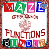 Maze - BUNDLE Operations on Functions (7 Mazes)