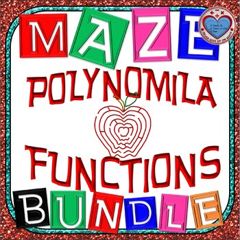 Maze - BUNDLE Polynomial Functions (12 Mazes)