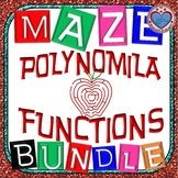 Maze - BUNDLE Polynomial Functions (12 Mazes)