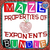 Maze - BUNDLE Properties of Exponents (8 Mazes)
