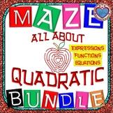 Maze - MEGA BUNDLE Quadratic Functions AND Quadratic Equations
