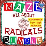 Maze - MEGA BUNDLE Radical Expressions AND Radical Equations