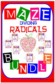 Maze - BUNDLE Radicals - Dividing Radicals