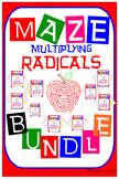 Maze - BUNDLE Radicals - Multiplying Radicals