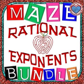 Maze - BUNDLE Rational Exponents
