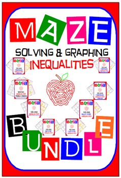 Maze - BUNDLE Solving & Graphing Inequalities