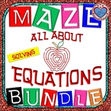 Maze - BUNDLE All about Equations