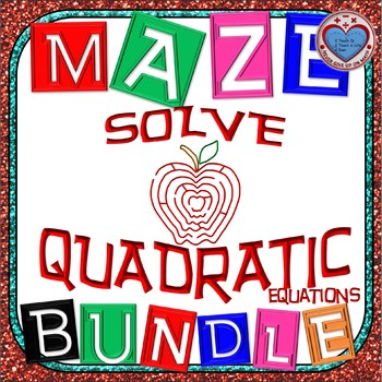 Maze - BUNDLE Solving Quadratic Equations (13 Mazes)
