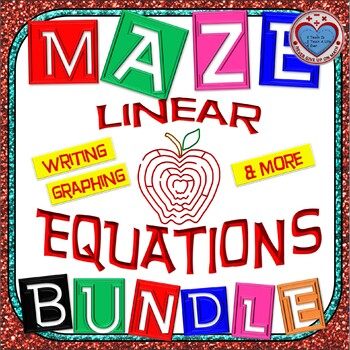 Maze - BUNDLE Writing Linear Equations - Different Strategies