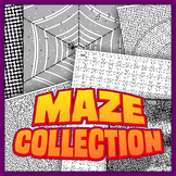 Maze Collection 1 - unique, full-page mazes