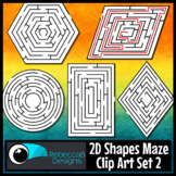 2D Shapes Maze Clip Art Set 2