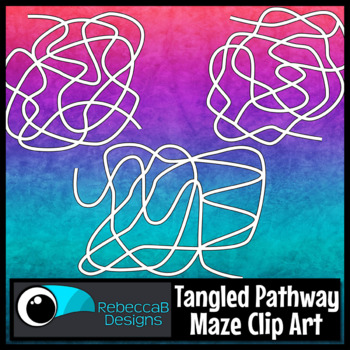 Maze Clip Art: Tangled Pathway Mazes, Choose the Correct Path