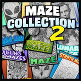 Maze Collection 2 - unique, full-page mazes
