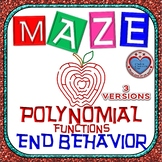 Maze - Describe the End Behavior 2 OPTIONS (Notation in 3 versions)
