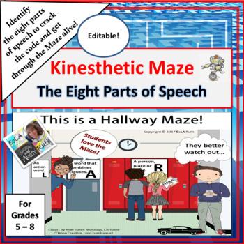 Eight Parts of Speech Kinesthetic Maze
