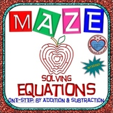 Maze - Equations - Solving One Step Equation - Linear Model (Level 1 - Integers)