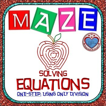 Maze - Equations - Solving One Step Equation - using Division