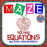 Maze - Equations - Solving One Step Equation - using RECIPROCAL