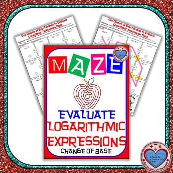 Maze - Evaluate Logarithmic Functions using Change of Base Formula