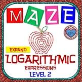 Maze - Expanding Logarithmic Functions (Advance Version - Level 2)