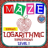 Maze - Expanding Logarithmic Expressions (Simple Version - Level 1)