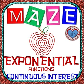 Maze - Exponential Functions: Continuous Interest