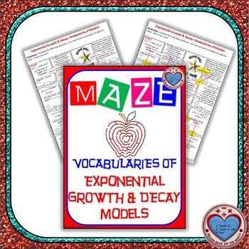 Maze - Exponential Functions: Growth/Decay Factor, Rate, Formula