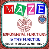 Maze - Exponential Growth and Decay -  Is it Growth, Decay, or Neither?