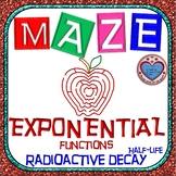 Maze - Exponential Functions: Radioactive Decay - Half-life