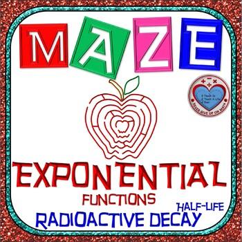 Maze - Exponential Functions: Radioactive Decay - Half-life