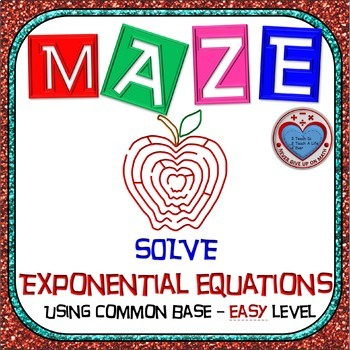 Maze - Exponential Functions -  Solving Exp Fxns using Com